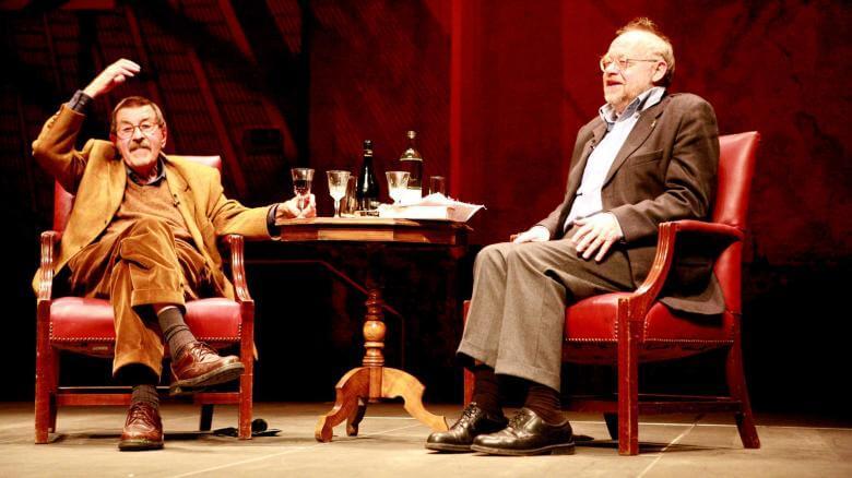 Günter Grass und Jürgen Flimm im Gespräch